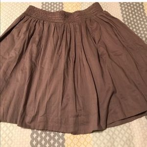 Banana republic tan mini skirt! Perfect for fall!